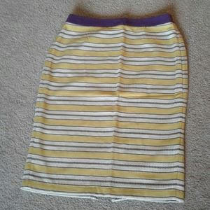 Boden fully lined yellow  pencil skirt.
